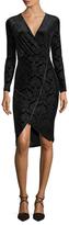 Rachel Roy Burnout Faux Zip Sheath Dress