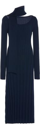Rokh Ribbed Wool-Knit Dress
