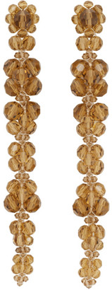 Simone Rocha Orange Long Cluster Drip Earrings