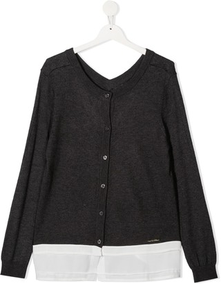 Twin-Set TEEN layered V-neck cardigan
