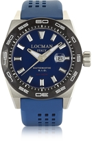 Locman Stealth 300 mt Analog Display Automatic Self Wind Blue Stainless Steel, Titanium and Silicone Men's Watch