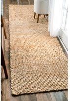 nuLoom Handmade Natural Jute Runner Rug (2'6 x 10')
