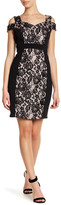 Sangria Cold Shoulder Lace Dress (Petite)