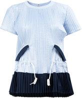 Sacai plissé flared blouse
