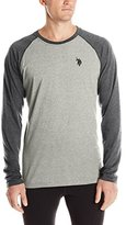 U.S. Polo Assn. Men's Color Block Raglan Long Sleeve Performance Top