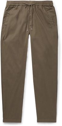 Folk Slim-Fit Tapered Cotton-Twill Drawstring Trousers