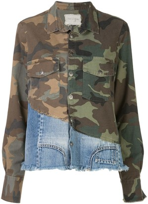 Greg Lauren Patchwork Long Sleeve Shirt