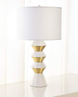 Jamie Young Ceramic and Metal Geo Table Lamp
