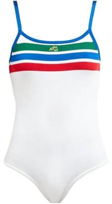 Bella Freud Brinkley Knitted Bodysuit - White Multi