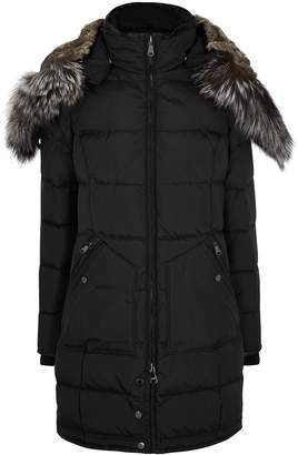 Pajar Panther Black Fur-trimmed Shell Coat