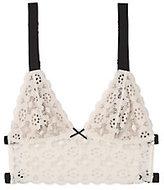 Fleur Du Mal White Crochet Longline Bra