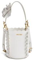 Miu Miu Leather Bucket Bag - White
