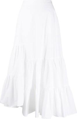 MM6 MAISON MARGIELA asymmetric ruffle tiered skirt