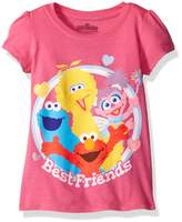 Sesame Street Little Girls' Toddler Best Friends Short-Sleeved Puff T-Shirt