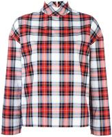 Cédric Charlier checked high neck shirt - women - Cotton - 38
