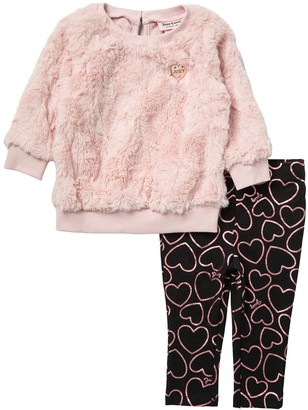 Juicy Couture Faux Fur Pullover & Leggings (Baby Girls)