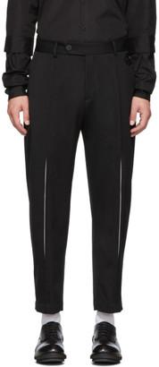 Isabel Benenato Black Virgin Wool Heavyweight Trousers