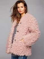 Super Soft Faux Fur Maternity Jacket