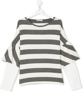 Elsy striped bell sleeve T-shirt