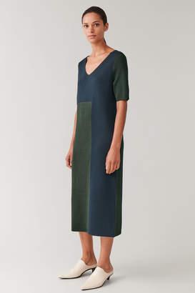 Cos WOOL-MIX COLOUR-BLOCK DRESS