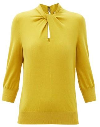 Erdem Rumer Twisted-neckline Cashmere-blend Sweater - Yellow