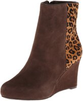 Rockport Women's Seven To 7 85mm Wedge Bootie Ebano/Brown Leopard Print Boot 7.5 M (B)