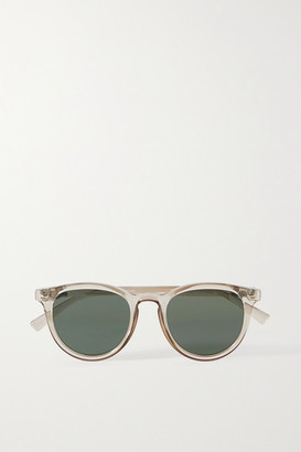 Le Specs Fire Starter Round-frame Acetate Sunglasses - Clear