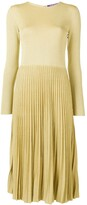 Thumbnail for your product : Ralph Lauren Collection Lurex Knit Pleated Dress