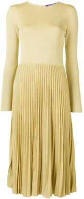 Ralph Lauren Lurex Knit Pleated Dress