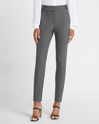 Express High Waisted Button Tab Seamed Front Skinny Pant