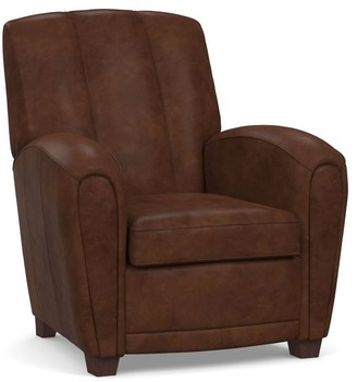 Pottery Barn Elliot Leather Recliner