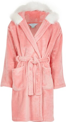 River Island Girls Pink 'Sassy' cosy dressing gown