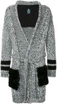 GUILD PRIME two-tone striped cuff cardigan