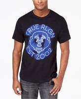 True Religion Men's Neon Buddha Logo-Print T-Shirt