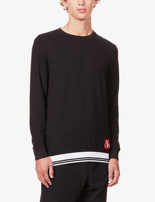 Calvin Klein One cotton-blend jersey sweatshirt