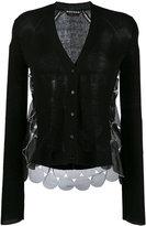 Rochas layered sheer sides cardigan - women - Silk/Cotton/Polyamide - 42