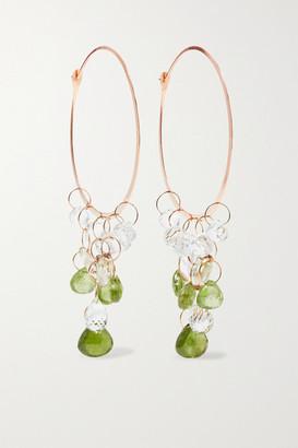 Melissa Joy Manning Extra Large 14-karat Gold Multi-stone Hoop Earrings - Rose gold