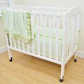 T.L.Care TL Care Heavenly Soft 3-pc. Minky Dot Mini Crib Set