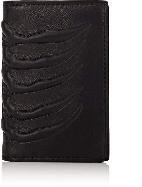 Alexander McQueen Men's Rib-Cage-Embossed Card Case