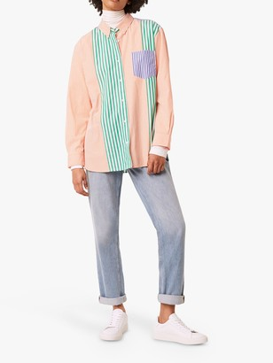 French Connection Adisa Colour Block Stripe Shirt, Multi Mix