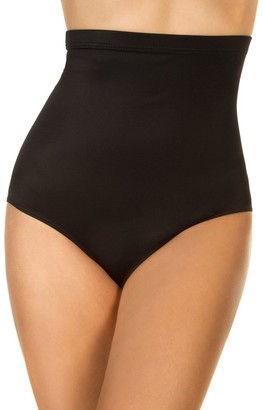 Miraclesuit Women's Swimwear Super High Waist Swim Pant Tummy Control Bathing Suit Bottom - black - 22