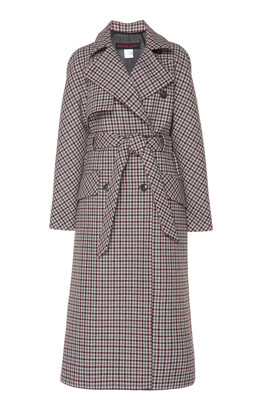 Martin Grant Checked Wool-Blend Trench Coat
