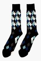 Paul Smith Black Diamond Pattern Socks