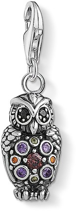 Thomas Sabo Women's 925 Sterling Silver Charm Sparkling Owl Club Pendant 1479-643-7