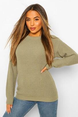 boohoo Petite Ivy Oversized Sweater