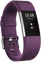 Fitbit Charge 2 Heart Rate + Fitness Wristband (Plum/Silver) - Large