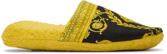 Versace Gold Medusa Barocco Slippers