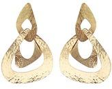 Josie Natori Hammered Gold Link Earrings Style S11303