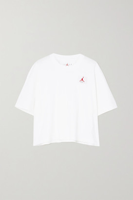 Nike Jordan Appliqued Cotton-jersey T-shirt - White