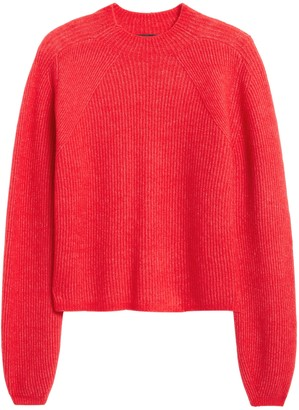 Banana Republic Petite Aire Cropped Puff-Sleeve Sweater